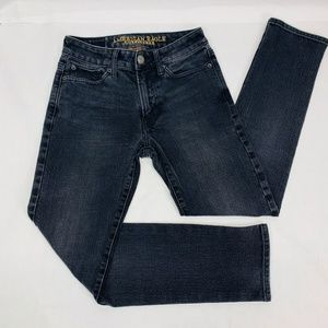 American Eagle Mens Jeans 26 x 28 Black Slim 360